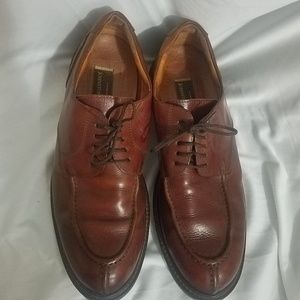 Johnson Murphy brown split toe dress shoes 10